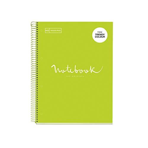 Miquelrius - Quaderno a righe A4 Cartón Color Lime