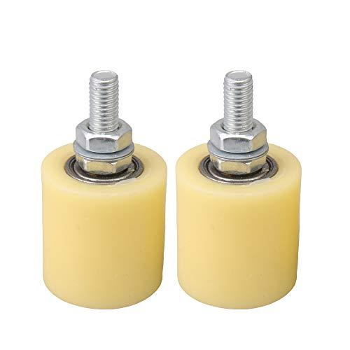 BQLZR BQLZR amarillo plata PP Rueda de acero soporte de rodamiento de...