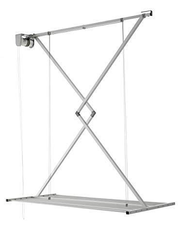foxydry Mini Tendedero de Techo, Tendedero de Techo Vertical Abatible en Aluminio y Acero (Gris, 150)