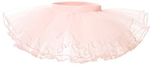 Bezioner Jupe Tutu en Tulle Fille Robe de Danse Classique Ballet Pettiskirt Princesse Costume Rose L 7-9 Ans