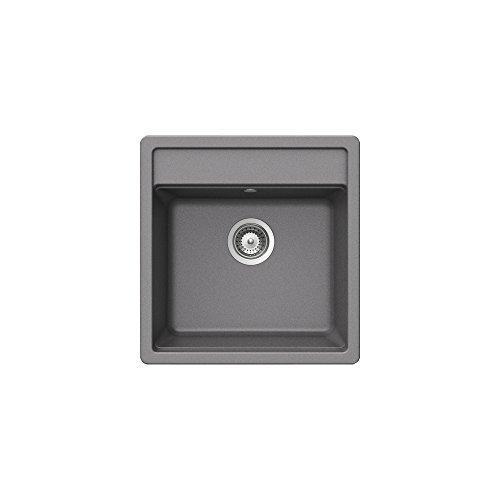 Teka 40144576granito fregadero de cocina con un solo Bowl, metálico aluminio