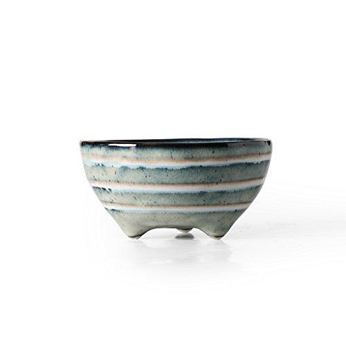 ZHDWM Utensili Ceramici di Dieta del Vassoio della Macedonia della Posateria della Minestra della Pasta della Ciotola del Cereale della Ciotola Retro Ristorante Domestico Ciotola