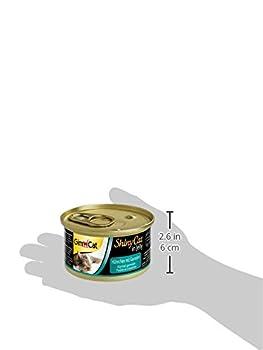 GimCat ShinyCat in Jelly Poulet aux crevettes – Nourriture humide pour chats à la viande et taurine 24 boîtes (24 x 70 g)
