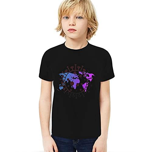 Rodari Coro-Navirus Boy Sport T-Shirt Summer Shirt Tops Outfits for Teen Boys Black