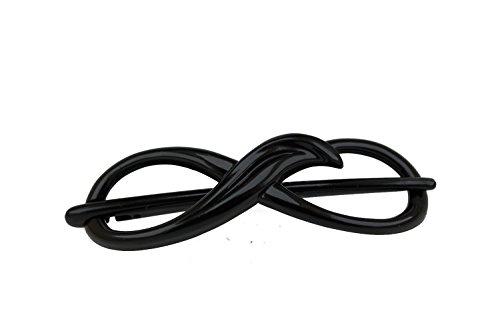 1 Stk Libellenspange 8er Form 8x2,5cm in schwarz - Made in Germany - WeLoveBeads