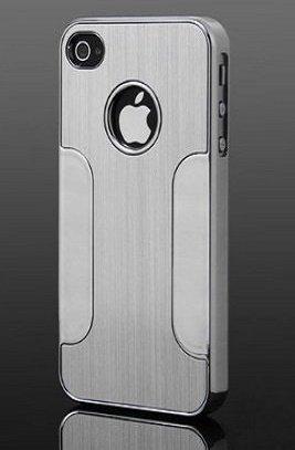 itronik Schutzhülle kompatibel mit Apple iPhone 5 5S 5SE Cover Alu Hard Hülle Schutz Hülle Metall Bumper Chrom Aluminium