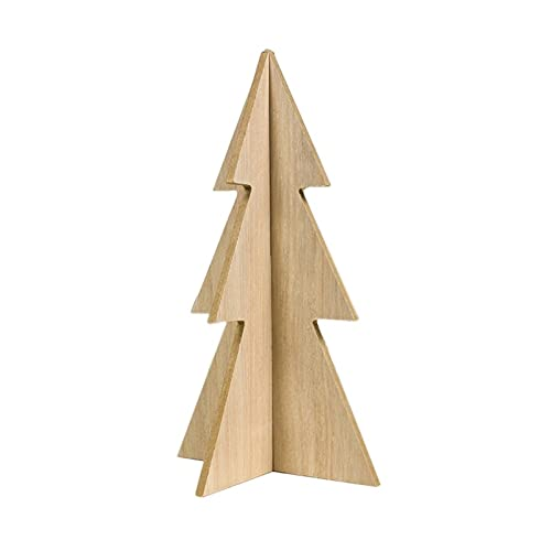 PPuujia Decoración de madera de Navidad con empalme de madera para Navidad, decoración simple y única del árbol de Navidad (color: L)