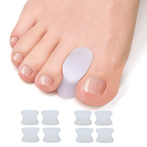 WELNOVE-Gel dedos separador Toe Separadores de Dedos del Pie
