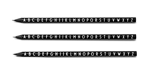 Design Letters - Bleistifte - Schwarz - 5 TLG. Set - Typo: Arne Jacobsen