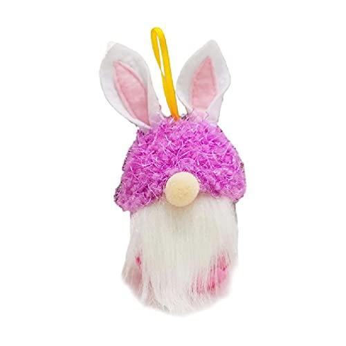Gnomo - Conejito de Pascua para galletas, caramelos, jarrón para conejo, etc. Adornos para colgar, gnomo conejo de Pascua