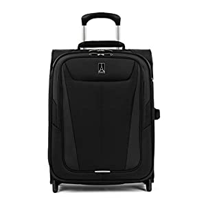 Travelpro Maxlite 5-Softside Lightweight Expandable Upright Luggage, Black, Carry-On 20-Inch
