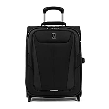 Travelpro Maxlite 5 Softside Lightweight Expandable Upright Luggage Black Carry-On 20-Inch
