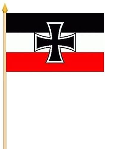 Fahne Flagge Gösch DR Kriegsmarine 2 x Stockflagge Hand Flag Fanfahne 27x38 cm Stockfahne Flaggen Fahnen