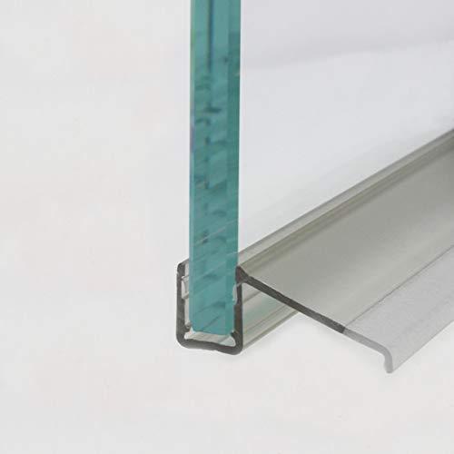 HEILER Wasserablaufprofil in Verbindung mit Plexi-Halbrundstab für 6 und 8 mm Glasstärke