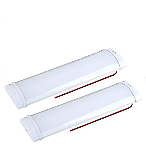 Luces interiores de 12 V 72 LED, 10 W, luces de techo con interruptor de encendido/apagado, iluminación interior LED para coche, furgoneta, autobús, caravana, barco, domo, autocaravana, cocina