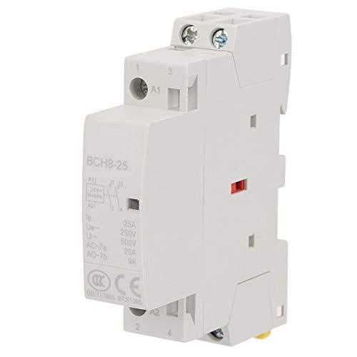 Contactor de 25 A, fácil de instalar y mantener Contactor de CA, rendimiento superior para ahorrar espacio de instalación Larga vida útil