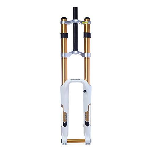 LMIAOM 26-Zoll-Aluminium-Gebirgsfahrrad-Fahrrad-Gabel DH Downhill Radfahren Federgabel Motorrad Reparaturwerkzeug für Zubehörteile (Color : White)