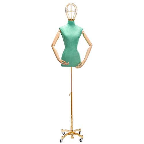 Manikins MMM@ Schaufensterpuppe Kleidung Weibliches Modell Halblanges Blei Hochzeitskleid Halblanges Kleidungsgeschäft Schaufenster Ständer Schaufensterpuppe Schlank und Schön