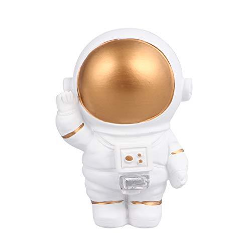 Amosfun Harz Astronauten Figur Spielzeug Kuchen Topper Spaceman Desktop Dekoration Astronauten Partei Zugunsten Kinder Geschenke Auto Armaturenbrett Ornamente Golden