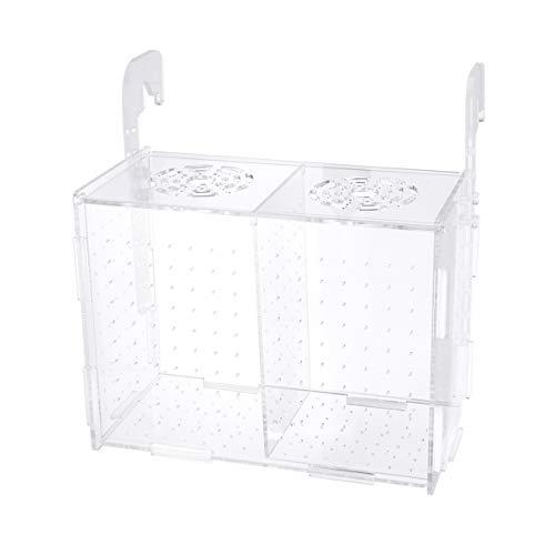 Balacoo Zuchtbox für Aquarium-transparente Aquariumzucht Isolierbox Aquarium Inkubator Brutboxen multifunktionale Aquariumhalterung (Hakenmuster)