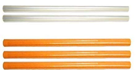 DBC Retail Book/Notebook Cover Roll (Combo Pack of 5 Rolls, Transparent and Orange)
