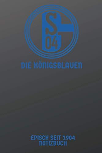 """Schalke 04 DIE KÖNIGSBLAUEN,EPISCH SEIT 1904 NOTIZBUCH, Vintage Logo: Notebook/journal, 100 Seiten, 6\""""9\"""", Soft cover"""