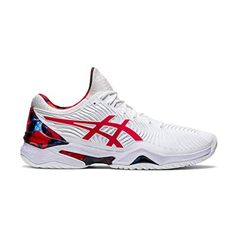 ASICS Court FF Novak L.E, Zapatos de Tenis Hombre, Blanc Rouge Vif, 44.5 EU