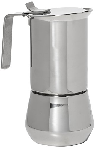 ILSA 122-3, Stainless Steel Stove-Top Espresso Maker, 3- cup