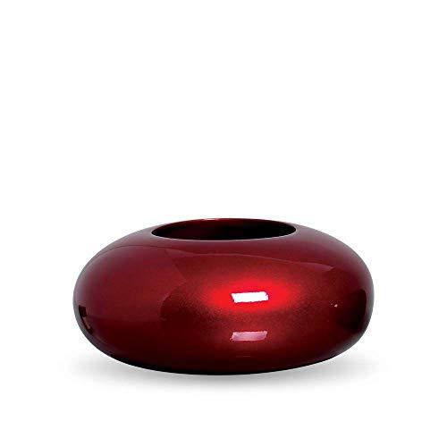 Cachepot Redondo Vaso G Decoração Em Cerâmica Vinho Scarlet