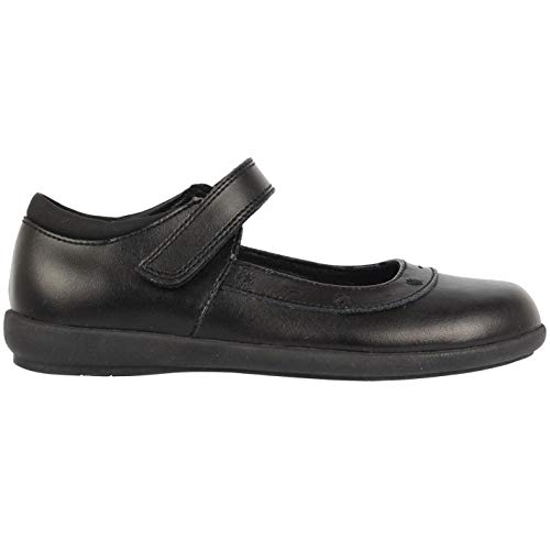 Kangol Tiffin Niñas Zapatillas Casuales Merceditas Bordados Negro EUR 31,5