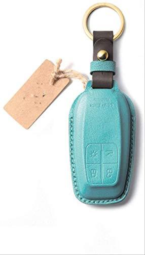 Funda para llave de coche hecha a mano de piel, para Ferrari