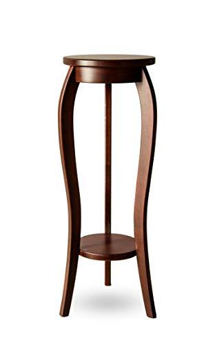 Tavolino portafiori in legno massello di faggio, Legno, MAHOGANY, 28x75