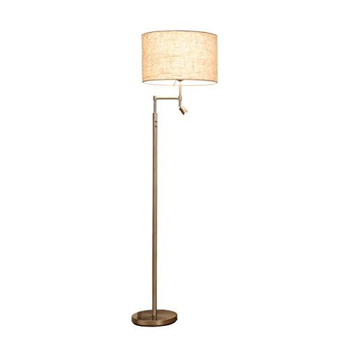 WYZ vloerlamp LED vloerlamp met een Flax cilinder Shade Moderne woonkamer slaapkamer nacht metaal vloerlamp [energieklasse A ++]