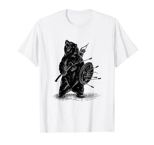 Viking Bear Warrior T shirt-Polar Bear T shirt