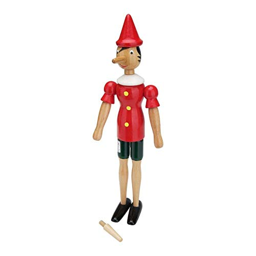GICO Pinocchio Gelenkfigur aus Holz, Länge 38 cm- Made in Italy- 9013