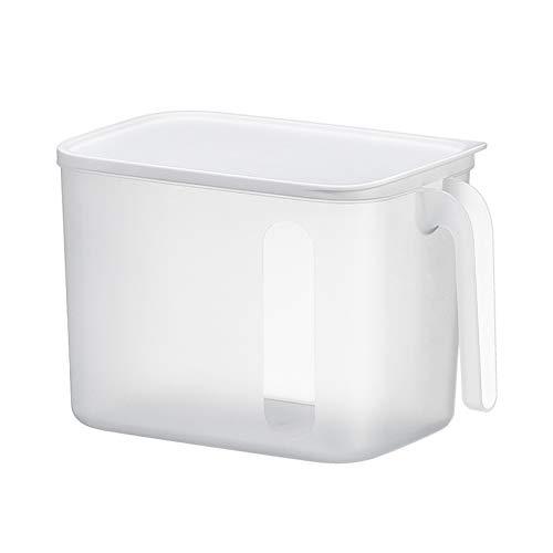 haninetrosty Plastic Kitchen Pantry Cabinet Refrigerator Freezer Food Storage Bins with Handles Transparent Best Price