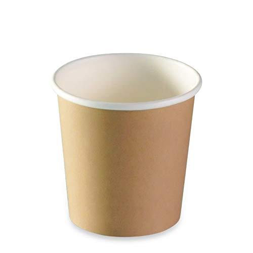 LE PETIT FOURNISSEUR | 500 Gobelets Carton Brun 10cl | 100% Recyclable | Boissons Chaudes ou Froides