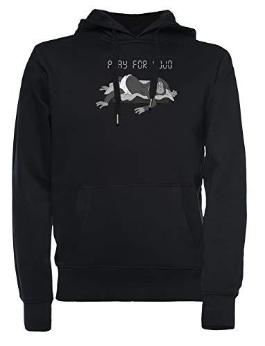Pray For Mojo Hombre Mujer Unisexo Sudadera con Capucha Negro Todos Los Tamaños - Women's Men's Unisex Sweatshirt Hoodie Black