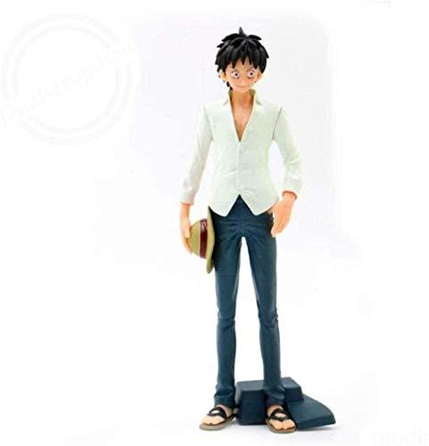QingShunBeiJing Einteiliger AFFE D. Ruffy Version Weißes Hemd Spielzeug Modell Anime Geschenk Kinder Geburtstag und Dekoration Büro PVC Abbildung 7.9