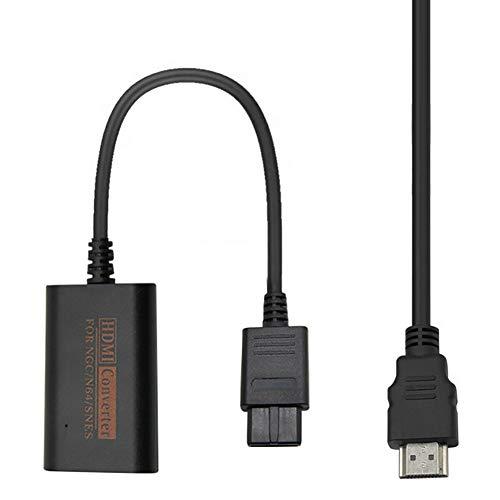 KLOP256 HDMI-Adapter, 1080P HD-Konverterkabel für TV Spielekonsole für N64 für SNES für NGC