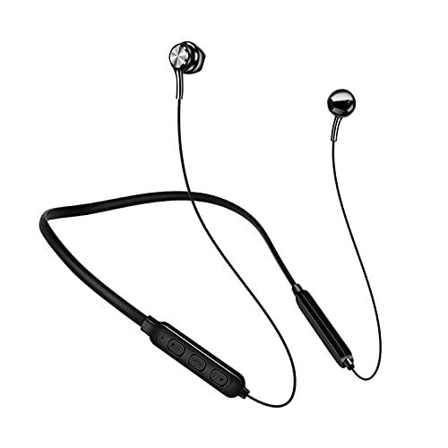 DSgdfAD Bluetooth Unisex Neck-Mounted Headphone, Sports Wireless Headset, Bluetooth Earphone, Wireless Headphones, for Running Yoga Travel Outdoor Gym Black