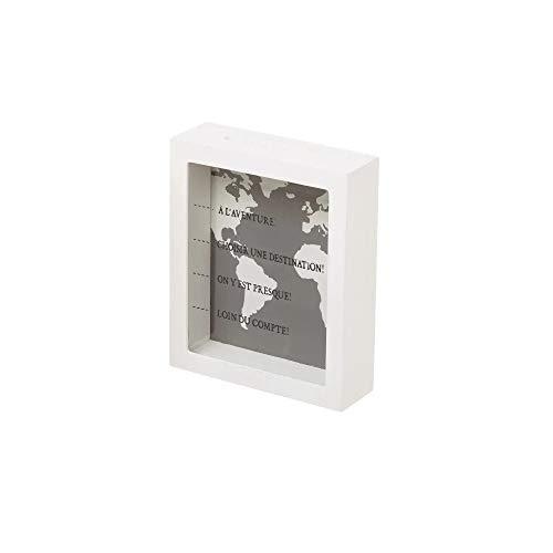 Dream Hogar Hucha de Madera a LAventure 15x18x5 cm (Blanco)