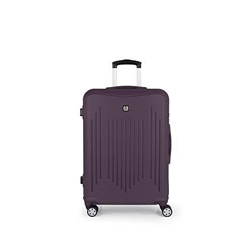 Gabol - Clever | Maletas de Viaje Medianas Rigidas de 46 x 66 x 25 cm con Capacidad para 61 L de Color Morado