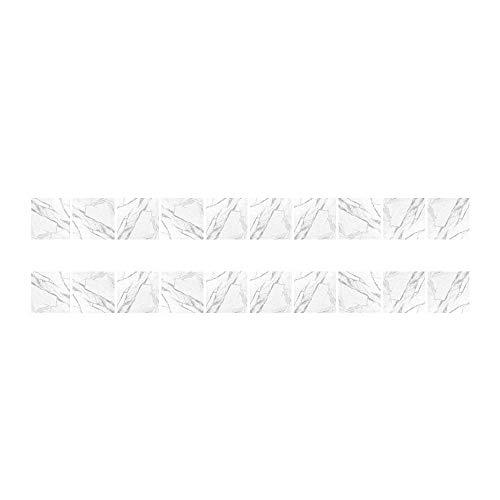 styleinside 20 * Pegatinas de Azulejos de mármol Blanco Abstracto, Adhesivo Autoadhesivo para Azulejos de Escalera de Pared de Cocina de baño, Azulejos de Pared de Palo Impermeable