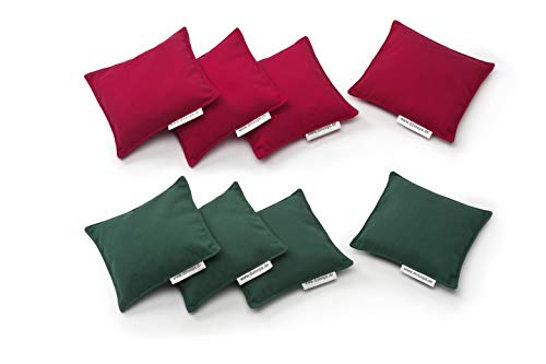 doloops Original Cornhole 8er Bag Set - 4 rote und 4 grüne Turnierbags als Set