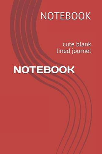 NOTEBOOK: cute blank lined journel
