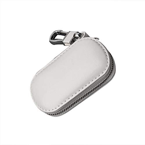 bozitian Funda multifunción de piel para llaves de coche con cremallera para llavero Faraday jaula sin llave, accesorios de seguridad RFID para llave de coche