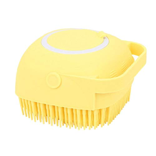 ZYCX123 Ducha de Silicona Cepillo de Masaje champú de Limpieza Dispensador rellena de líquido Exfoliante Depurador Amarillo Hombres Mujeres Niños Recuerdos