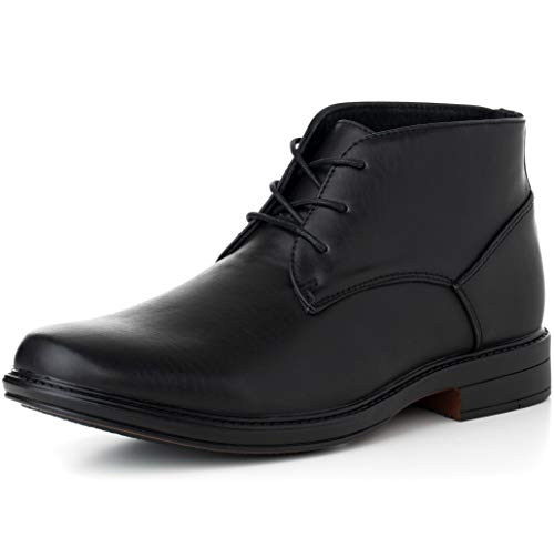 Alpine Swiss Mens Black Leather Lined Dressy Ankle Boots 11 M US