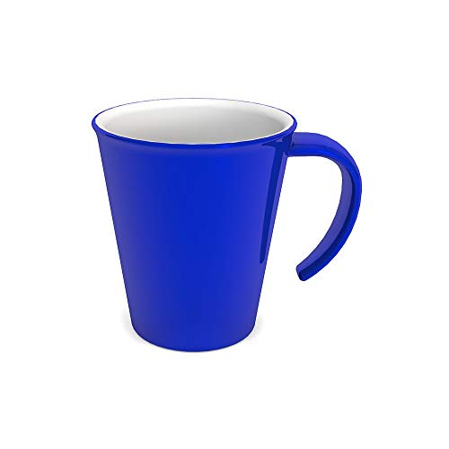 Ornamin Kaffeepott 300 ml blau (Modell 1201) / Kaffeebecher mit Henkel, Mehrwegbecher Kunststoff